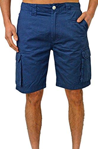 Duck and Cover - Pantalón corto - cargo - para hombre azul marino