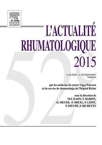 L'actualité rhumatologique 2015 (French - Elisabeth Brentano