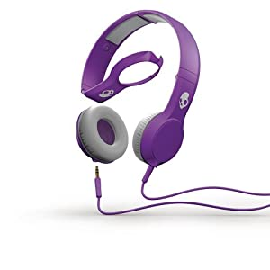 Skullcandy The Cassette Headphones with Mic in Athletic Purple
