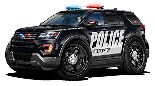 Wall Graphic Car - Ford Explorer Police Interceptor SUV Police Cars Art Large 2ft Long Wall Graphic Decal Sticker Man Cave Garage Decor Boys Room Decor