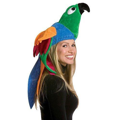 [Plush Deluxe Parrot Hat (1/pkg) (1 Count) Pkg/3] (Deluxe Parrot Costumes)