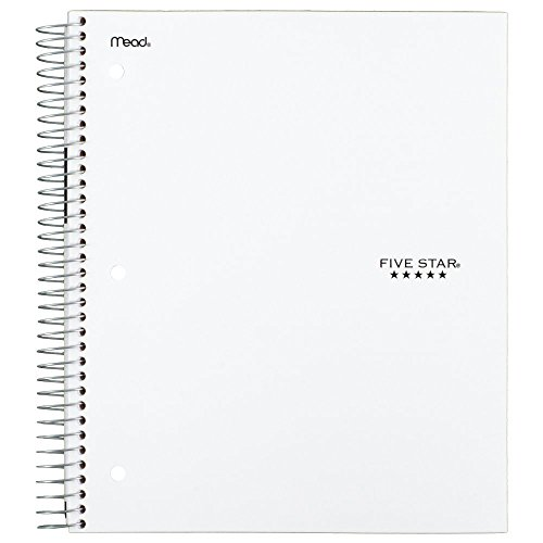 "043100062080 - Five Star Spiral Notebook, 5 Subject, College Ruled Paper, 200 Sheets, 11"" x 8-1/2"", Color Will Vary (06208) carousel main 6"