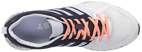 Adidas Prestanda Kvinna Adizero Tempo 9 W Löparskor Vit / Aero Blå / Kärna Svart