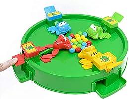 YLYX Juguetes Educativos para Niños Adecuados para Niños Mayores de 3 Años Juegos De Mesa para 2-4 Personas Juego con Ranas para Atrapar Frijoles Materiales Plásticos Ranas,F: Amazon.es: Hogar