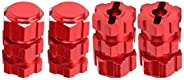 RC Car Hub Hex Adapter, 17mm RC Car Hex Adapter Nuts Splined Wheel Hubs Extension Combiner Fit for Traxxa MAXX