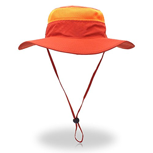 belababy Outdoor Sun Hat Quick-Dry Breathable Mesh Hat Camping Cap Orange