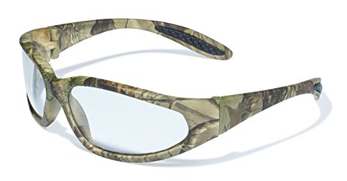 (Global Vision Eyewear Forest 1 Series Safety Glasses with Matte Camo Pattern Frames and Clear Lenses)