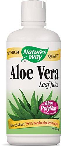 Natures Way Aloe Vera Leaf Juice 99.5% Purified Aloe Vera Leaf Juice, 1 Liter (33.8 Fl Oz.), 33.8 Fluid Ounce
