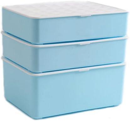 Ropa interior Cajas de almacenamiento Ropa interior para mujer Calcetines Cajas de almacenamiento Ropa interior Cajas de consigna Cajas de plástico para el hogar (Color : Azul) : Amazon.es: Hogar