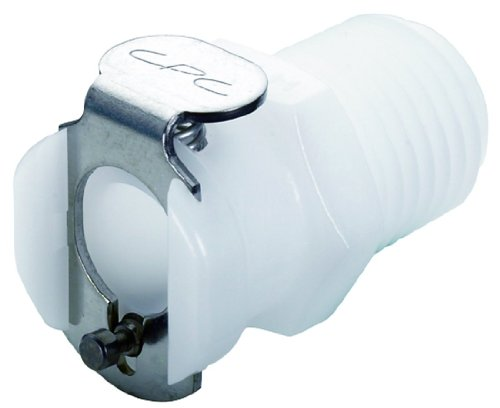 "Colder PMC1004 Acetal Tube Fitting, Coupler, Straight Thru, In-Line, 1/8"" Flow Coupler x 1/4"" NPT Male"