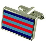 Air Chief Marshal Military England Sterling Silver Flag Cufflinks Engraved Box