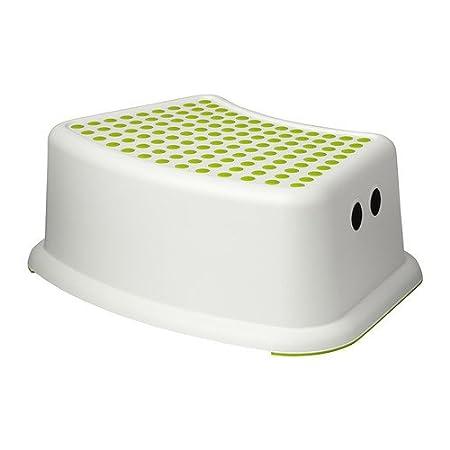 Ikea 602.484.18 Forsiktig Children's Stool, Green/White