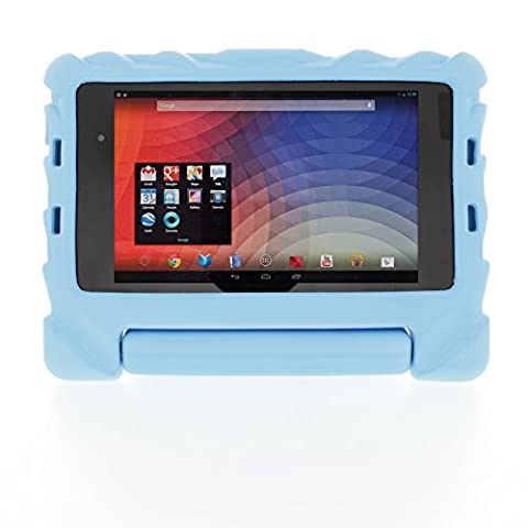 Gumdrop Cases Google Nexus 7 2nd Generation Foam Tech - Blue - EVA Foam - Rugged Shock Absorbing Protective Dual Layer Cover (Nexus 7 Case 2013 Rugged)