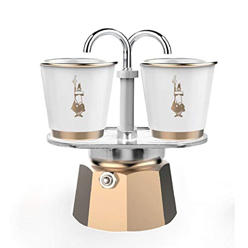 - Bialetti Exclusive Set Mini Express 2 Porcelein Cups with Gold Details
