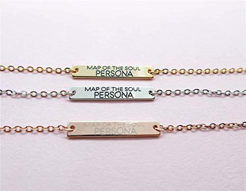 - Double Side Inscribe Name Bar Bracelet with BTS Map of the Soul PERSONA-ARMY Birthday Graduation Friendship Matching Jewelry Gift 2019 BTS Tour Memorial    Same Day Shipping by 1PM
