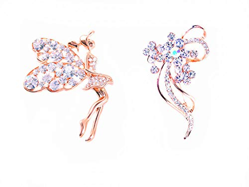 - GYAYU Brooch Pins for Women,Gold Tone Austria Rhinestone Crystal Brooch Pins Jewelry