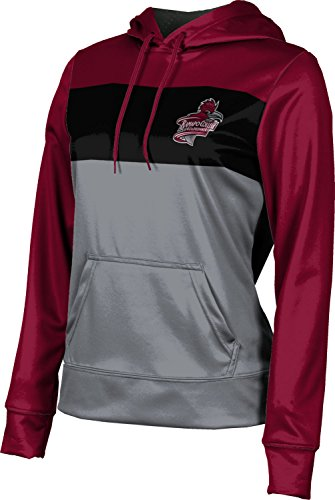 ProSphere Ramapo College of New Jersey Girls' Pullover Hoodie, School Spirit Sweatshirt (Prime) FD372 Red and Gray