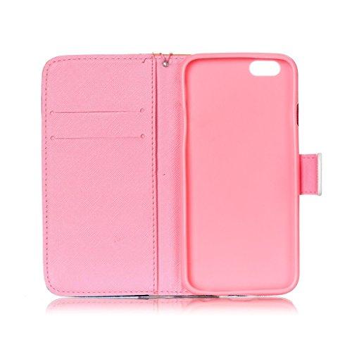 """iPhone 6S / iPhone 6 4.7"""" Coque , Apple iPhone 6S / Apple iPhone 6 4.7"""" Coque Lifetrut® [ pissenlits ] [Wallet Fonction] [stand Feature] Magnetic snap Wallet Wallet Prime Flip Coque Etui pour Apple iP"""