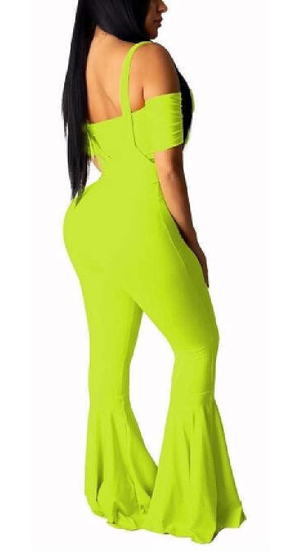Hokny TD Womens Bra Crop Tops Wide Leg Long Pants Jumpsuits 2 Piece Outfits