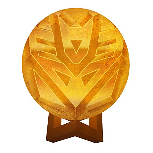 Transformers Decepticons Personalized Photo Night Light Customized 3D Printing USB Charging Moon Lamp Moon Light Night Light for Kids Gift for Women Mother's Day Gift (Transformer Light Lunar)