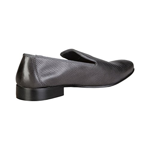 V 1969 - FELIX_GRIGIO Glisser Sur Mocassins Loafers En Cuir Hommes