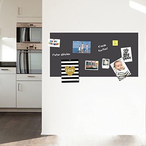 selbstklebende magnetische Tafelfolie l Klebefolie l Kreidetafel Wandtafel -grau- 100x50 inkl. Kreide