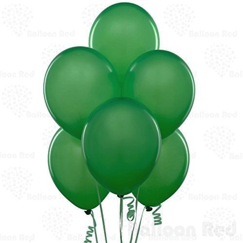 Forest Green 10 Inch Thickened Latex Balloons, Pack of 100, Premium Helium Quality for Wedding Bridal Baby Shower Birthday Party Decorations Supplies Ballon Baloon Thinken]()