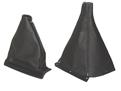 The Tuning-Shop Ltd For Nissan Skyline R33 1993-1998 Gear & Handbrake Gaiter Black Leather