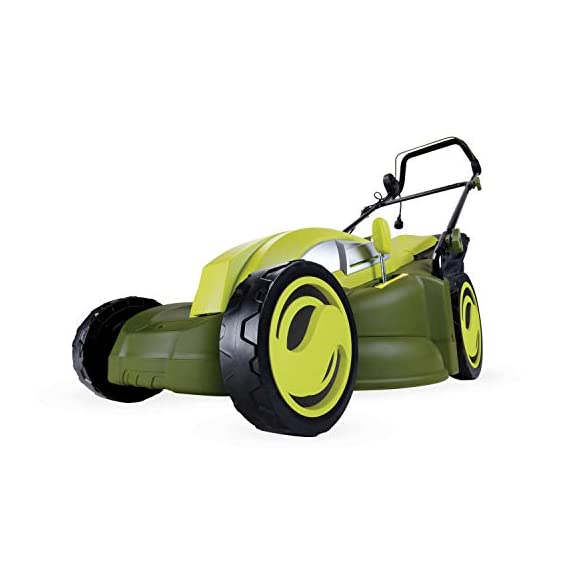 Sun Joe MJ403E Mow Joe 17-Inch 13-Amp Electric Lawn Mower/Mulcher 3 Maintenance free – No gas, oil or tune-ups Powerful 13-amp motor cuts a 17-inch wide path Tailor cutting Height with 7-position Height control