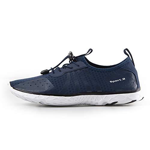 Respirant Pour Schage Mesh Chaussures Rapide Hommes Slip Fonc Rayure De D'eau Sur Iceunicorn Bleu Swim Plage Aqua 7wzpqExIx