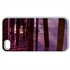 Beach Dreams - Case Cover for iPhone 4 and 4s (Beaches Series, Watercolor style, White)