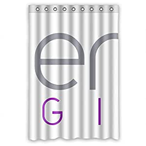 polyester Shower curtains, logo, size Width * Height / 48*72 inch / 122*183 cm Modern design, Eco-Friendly, best and suitable for Decorative