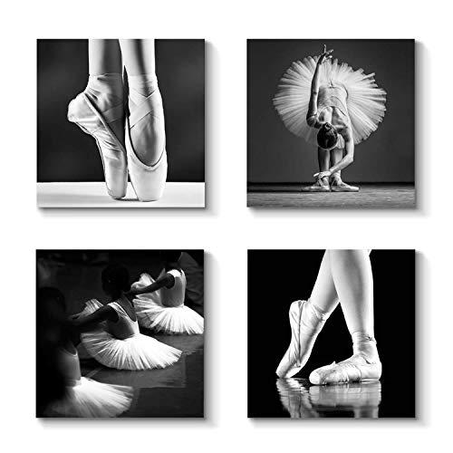 Retro Artwork Entertainment Decor Picture - Ballet Dancer Graphic Art Print on Canvas