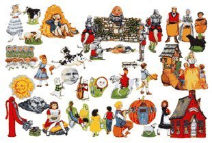 Nursery Rhymes Flannelboard Set - Mother Goose on the Loose-13 Nursery Rhymes- 50+ Felt Figures for Flannel Board Stories +Rhymes/coloring Pages- Mary Lamb Jack Jill Humty Dumpty Black Sheep+ More
