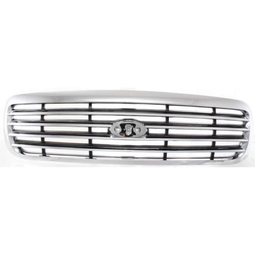 (MAPM - Ford Crown Victoria 1998-2011 GRILLE ABS Plastic Chrome Shell Painted Gray Insert - FO1200346 FOR 1998-2011 Ford Crown Victoria)