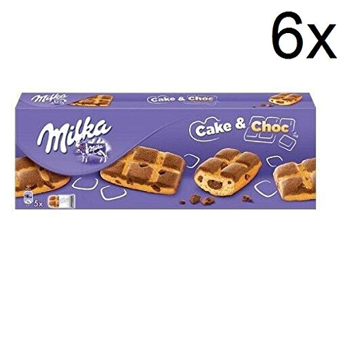 6X Milka Cake & Choc with Cream and Chocolate Nuggets 175g Biscuits Cookies