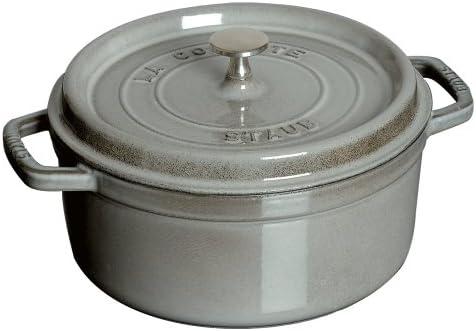 Staub 1102218 Round Cocotte, 2.75 quart, Graphite Grey