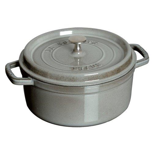Round La Cocotte (Staub 5.5 Quart Round Cocotte, Graphite Grey)