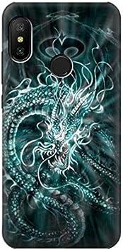 Innovedesire Digital Chinese Dragon Funda Carcasa Case para Xiaomi Mi A2 Lite (Redmi 6 Pro)