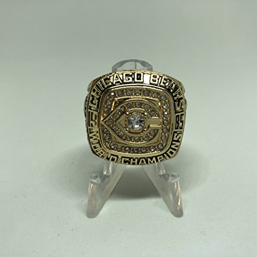 1985 Walter Payton Chicago Bears High Quality Replica 1985 Super Bowl XX Championship Ring Size 11-Gold & Black Colored US SHIPPING