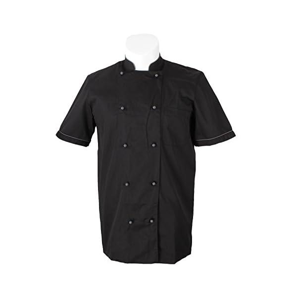 MISEMIYA Chaquetas Chef Bar Restaurante Cocinero Mangas Cortas Camisa de utilidades de Trabajo para Hombre 3