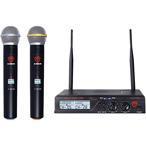 Dual UHF 100-Channel Wireless Handheld Microphone System ()