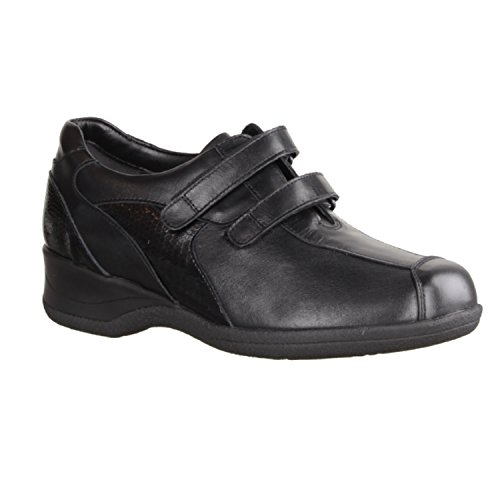 Xsensible Lucia- Comfortabele Schoenen / Losse Insert Damenschuhe Mary Jane / Slipper, Zwarte Stretch Leer (trek), Hakhoogte: 30 Mm
