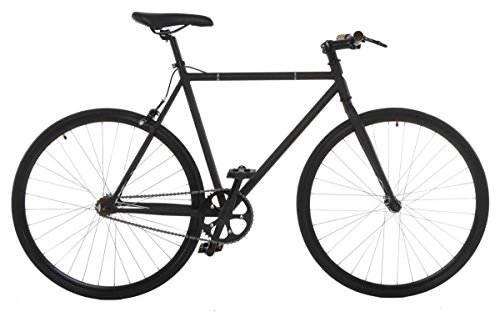 Vilano Fixed Gear Bike Fixie Single Speed Road Bike, Matte Black, (Fixed Gear)