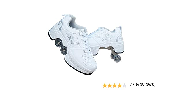 sanheng fire Deformation Parkour Shoes Cuatro Redondos de Zapatillas de Running Patines, 38, Hora del té: Amazon.es: Deportes y aire libre