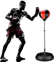 ifidex Jackgold Punching Bag Reflex Boxing Bag with Stand, Height Adjustable - Freestanding Punching Ball Spee