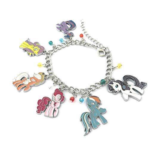 Athena Brand My Little Pony Charm Bracelet Quality Cosplay Jewelry Cartoon TV Series with Gift Box