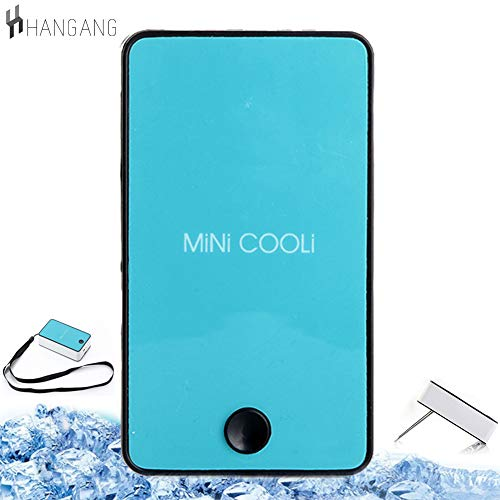 Hangang Mini Air Conditioner,Mini Portable USB Cooller Fifth Generation  Rechargeable Handheld Air Conditioning Summer Cooler Fan,Battery Powered,  No