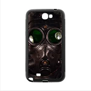 Case - Vintage Gas Mask Samsung Galaxy Note2 N7100 Plastic and TPU Case, Cell Phone Cover