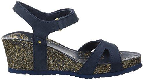 Panama Jack Women's Julia Basics Open Toe Sandals Blue (Marino) 9FOp2zB